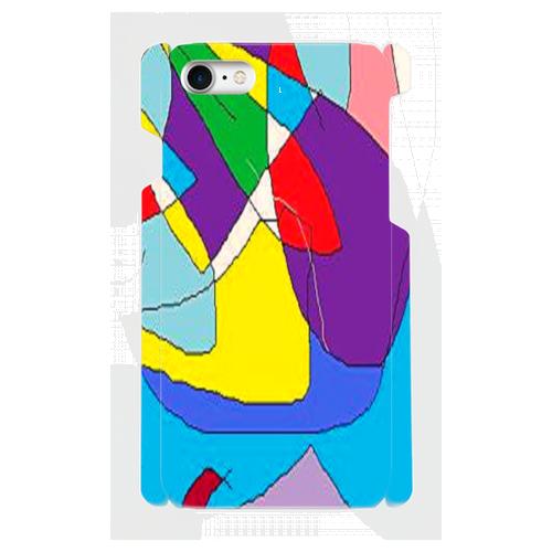 スマホケース*抽象画 側面柄付き