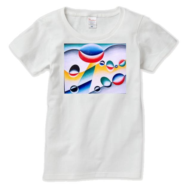 オーダー制作  アクリル絵画*遊泳原画Tシャツ