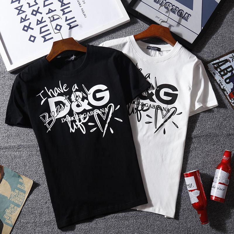 【Agemi  STORE】ドルチェ&ガッバーナ    Tシャツ    半袖    トップス     メンズ     age-817