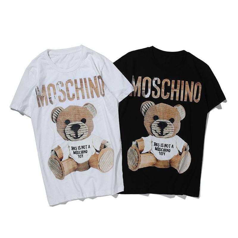 【Agemi  STORE】モスキーノ   Tシャツ     半袖     トップス    男女兼用   age-1817