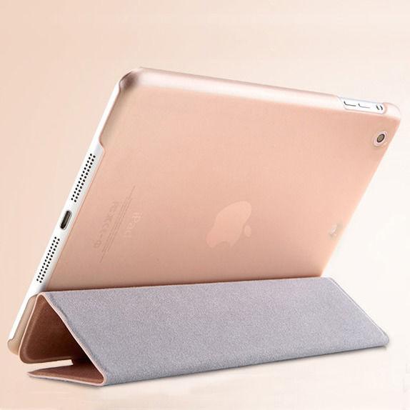 【SALE】iPad mini / iPad mini Retina 超薄型スケルトンケース付きオシャレなシルク柄スマートカバー