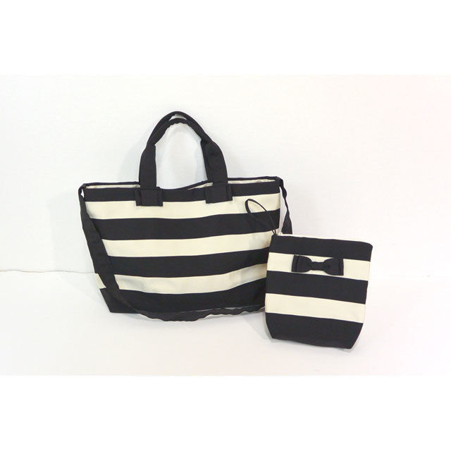 BAG&POECH SET(MOTHERS BAG クロ×クリーム)