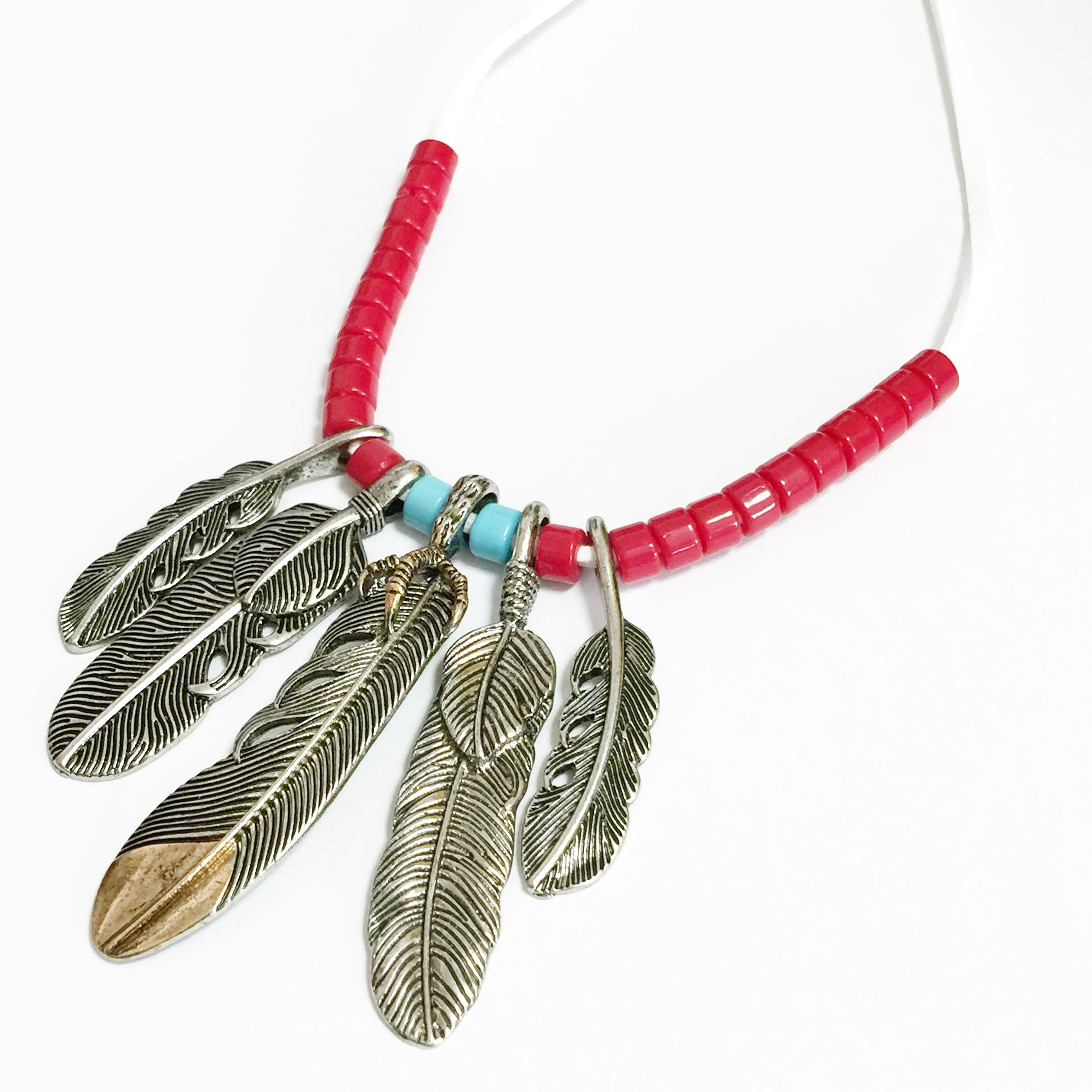feather necklace/1