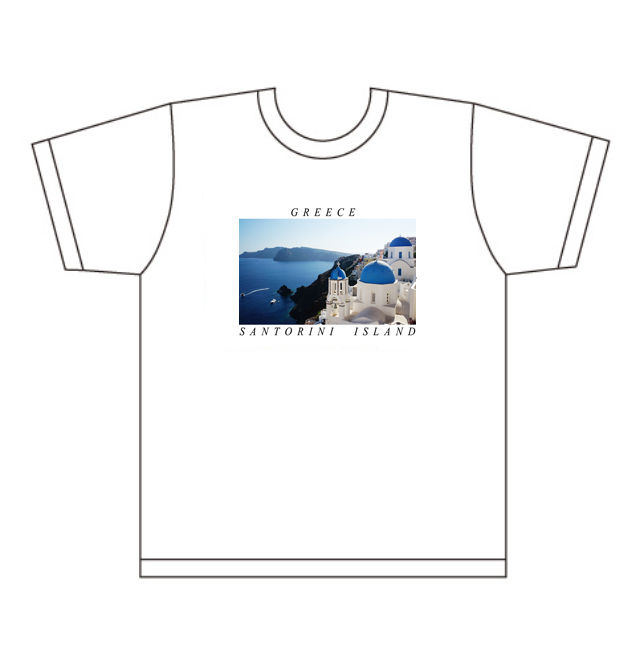 世界の絶景Tシャツ 第1弾サントリーニ島