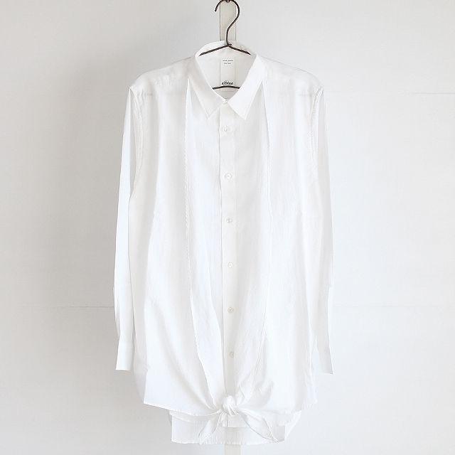 【albino】 カシュクールアレンジフェイクレイヤードロングシャツ