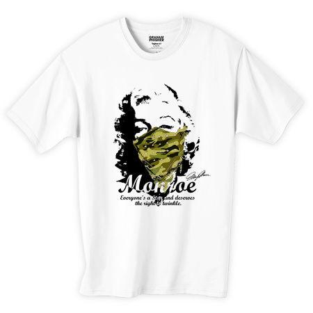 マリリンモンロー 迷彩ギャングバンダナデザインTシャツ