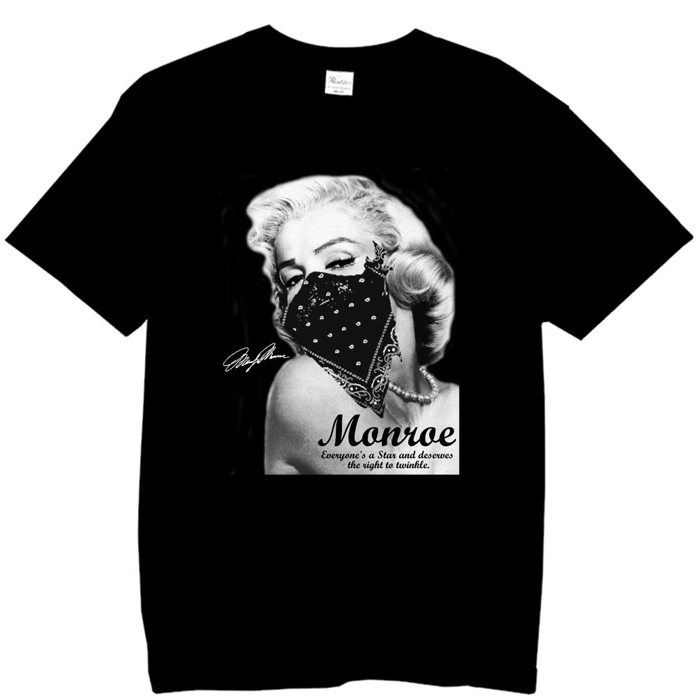 マリリンモンローギャングバンダナTシャツVer2ブラック