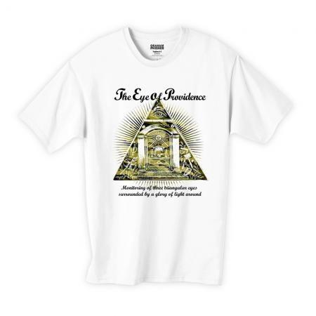 プロビデンスの目カモフラージュ柄(迷彩)フリーメイソンデザインTシャツ