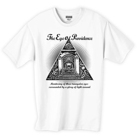 プロビデンスの目 フリーメイソンデザインTシャツ