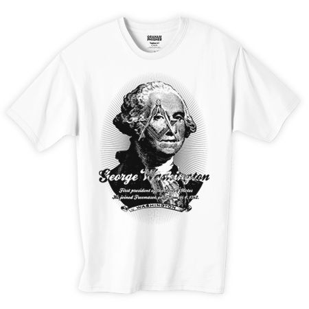 ジョージ・ワシントン フリーメイソンデザインTシャツ