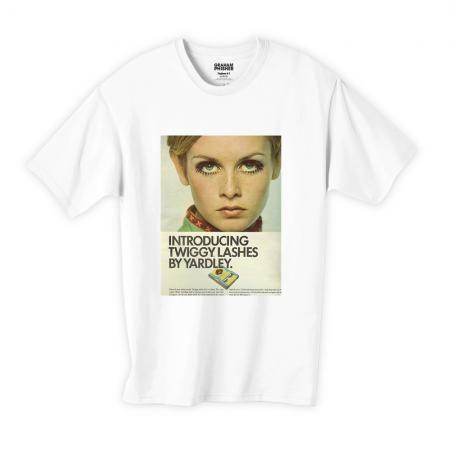 60年代ファッションアイコン ツイッギーデザインTシャツ001