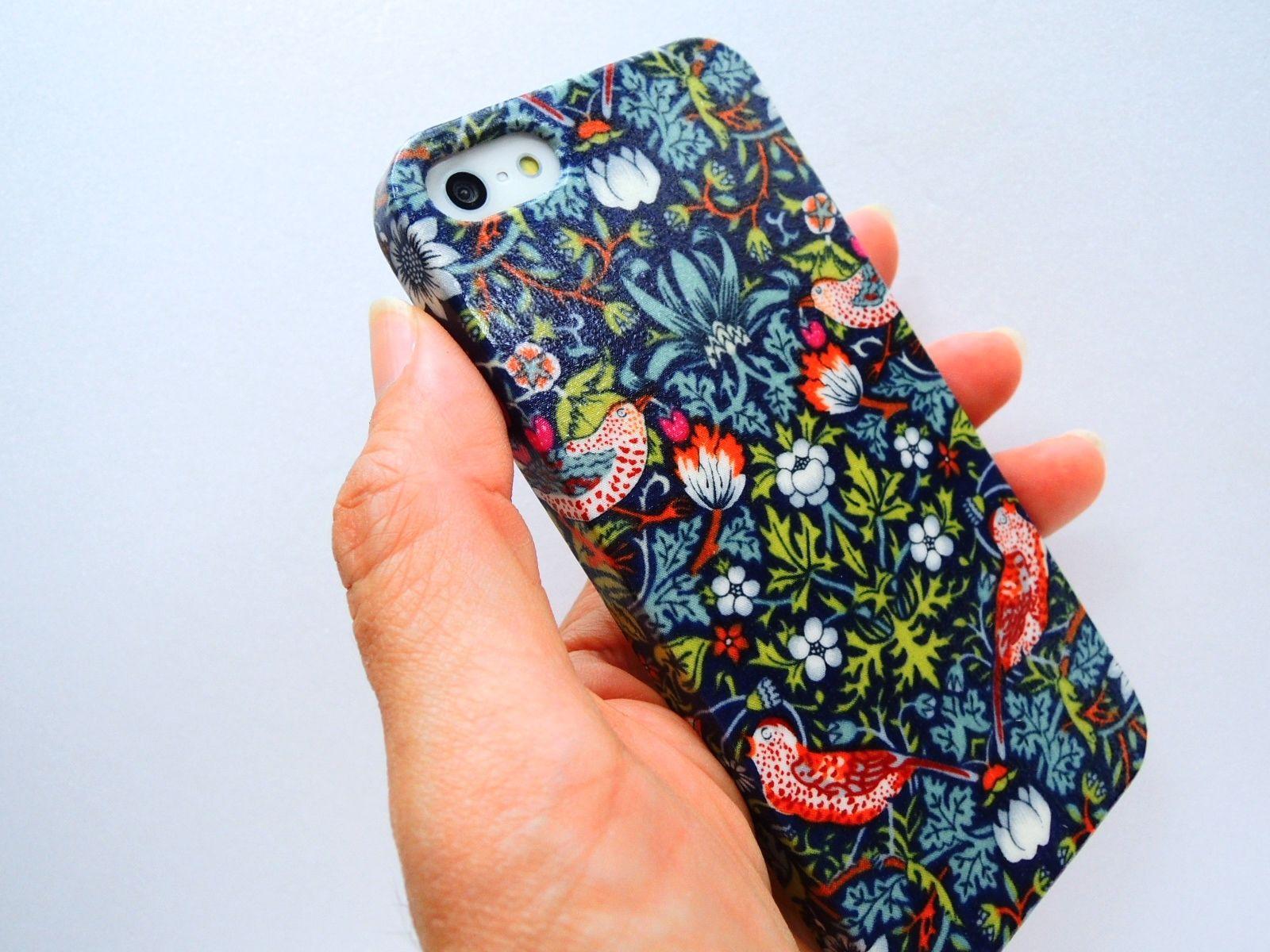 iPhoneSE/5sケース/リバティ・ストロベリーシーフ
