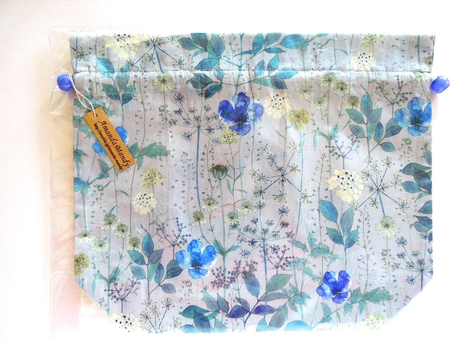 リバティトラベル巾着 イルマ縮小版 グレー