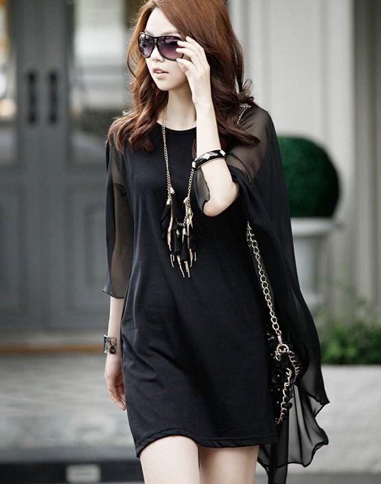 シフォンフリル ワンピース 韓国ファッション