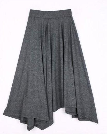 フレアロングスカート ボヘミアンスタイル 韓国ファッション