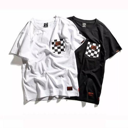 [COOL]モノクロポケットデザインTシャツ 2カラー