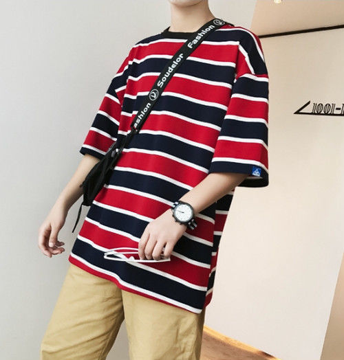 [新商品]2カラーボーダーデザインTシャツ 2カラー