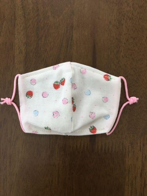 イチゴ柄 baby mask