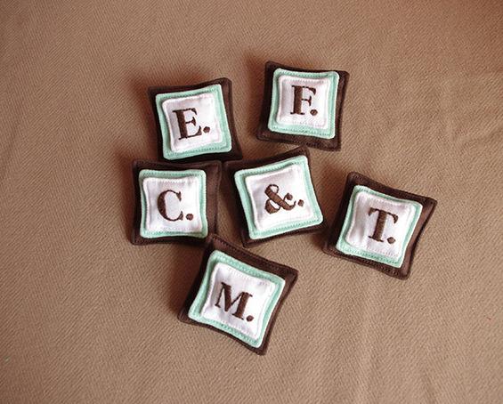 アルファベット・ブローチ | チョコ