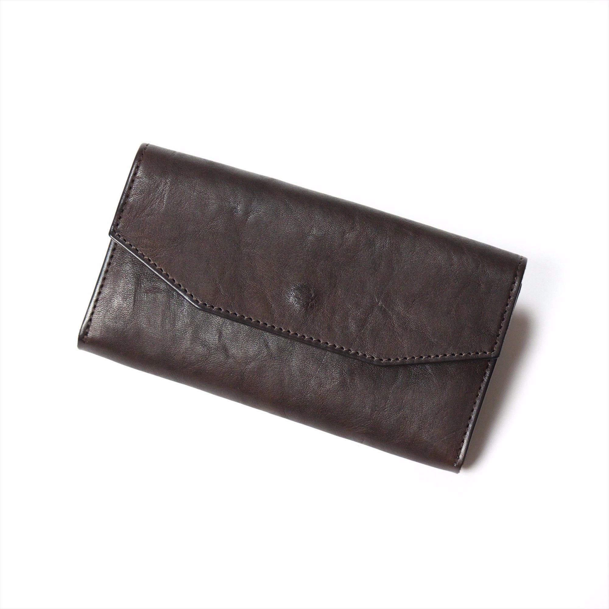ANNAK ギャルソン型長財布 ダークブラウン AK14TA-B0039