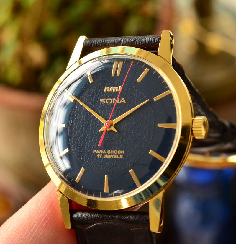 HMT SONA 手巻き 機械式 腕時計 デッドストック級 紺