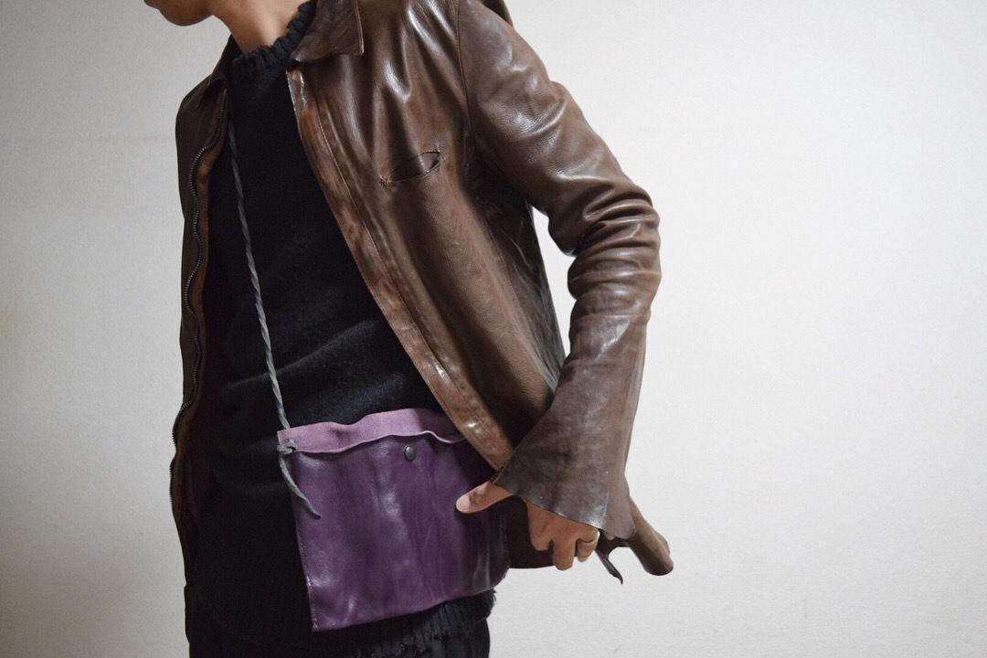 """ショルダーレザー ガジェット サコッシュ""""shoulder leather gadget sacoche"""""""