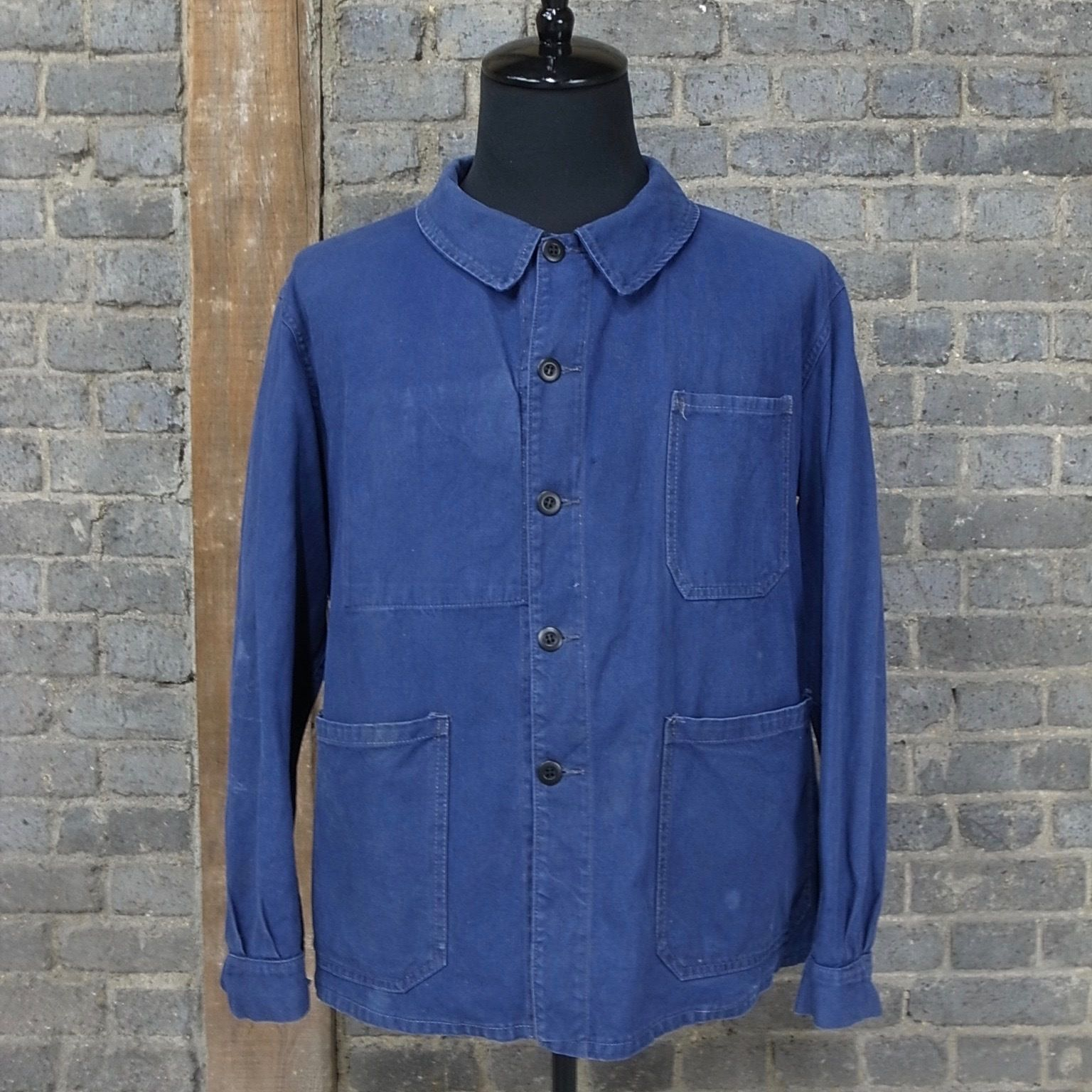 mid 20th c. french vintage cotton twil marine  work jacket