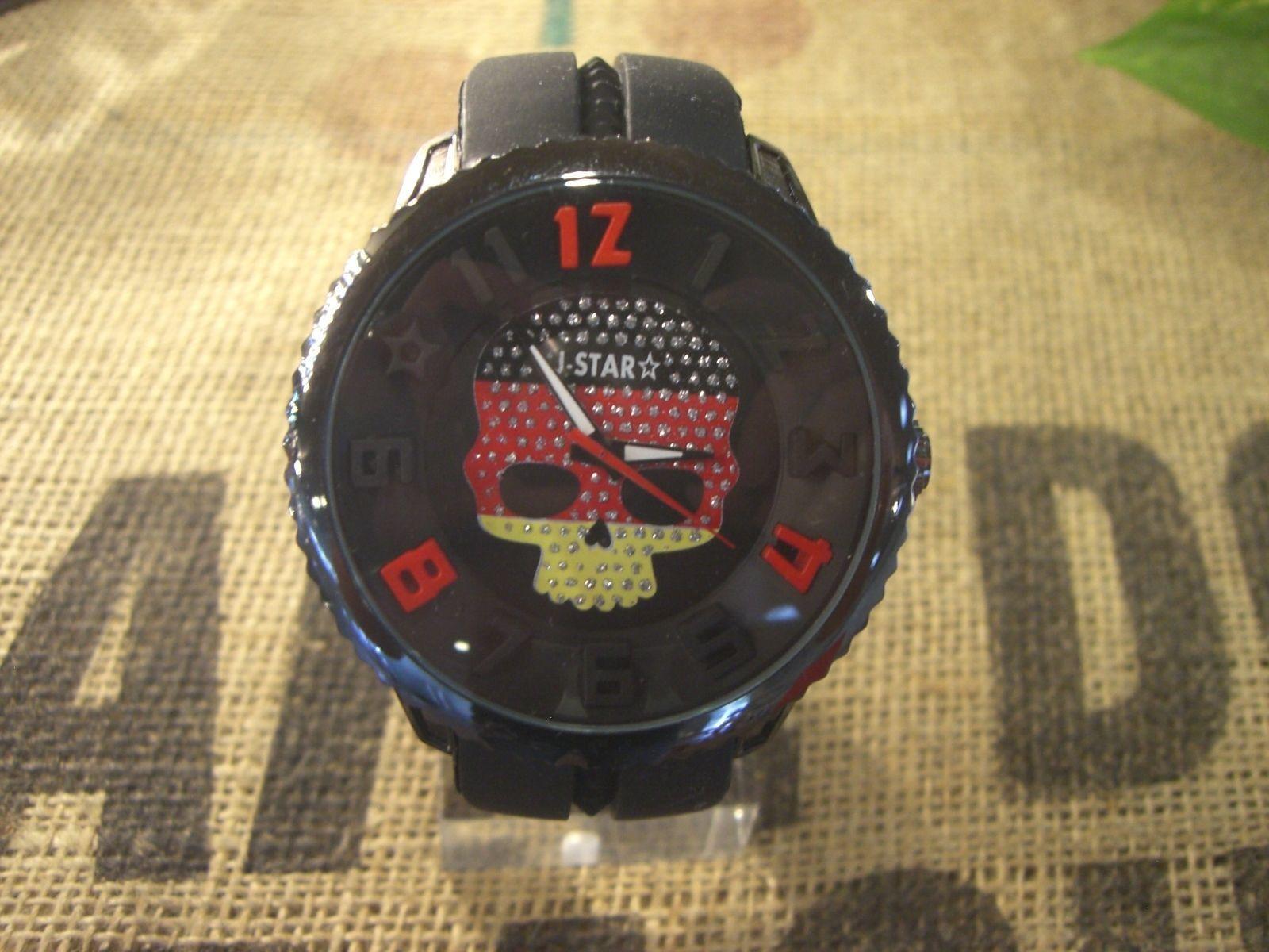 時計☆3Dドクロ ラバータイプ腕時計?ドイツ ゲルマン魂