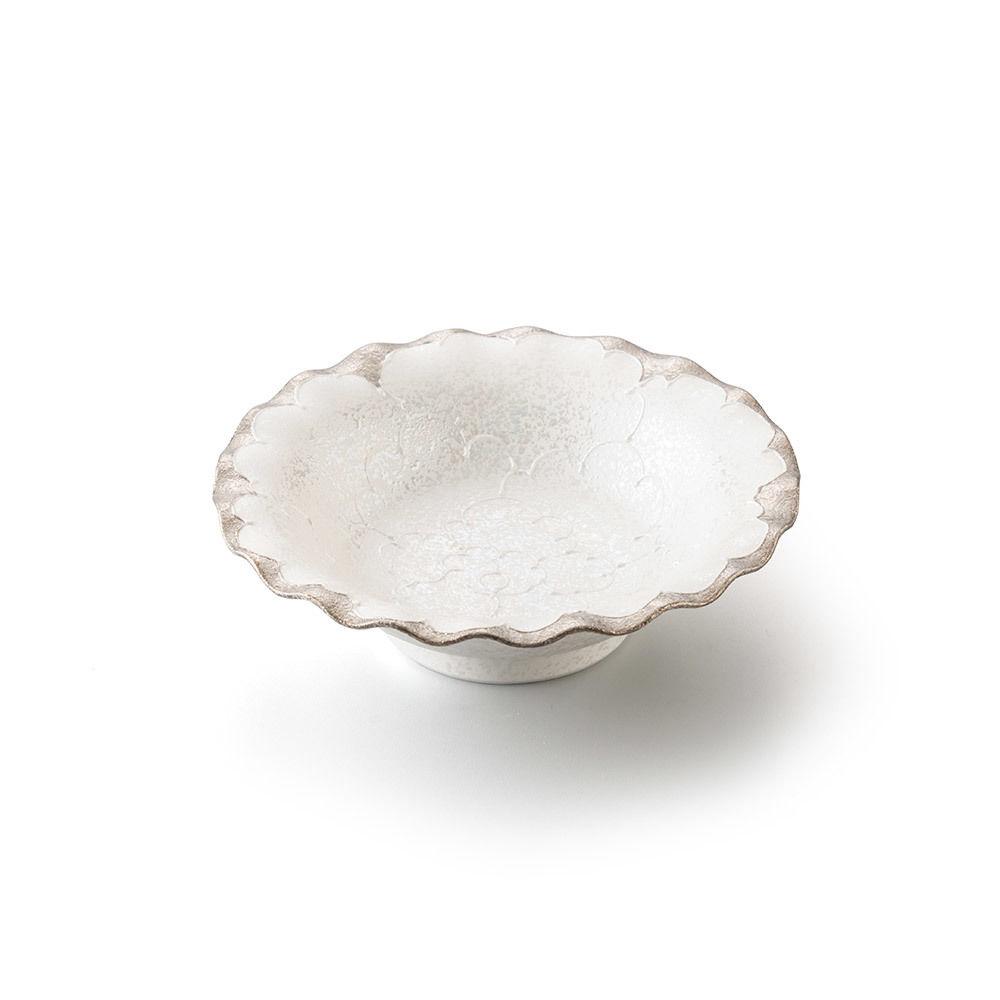 パール牡丹(プラチナ)5寸深皿