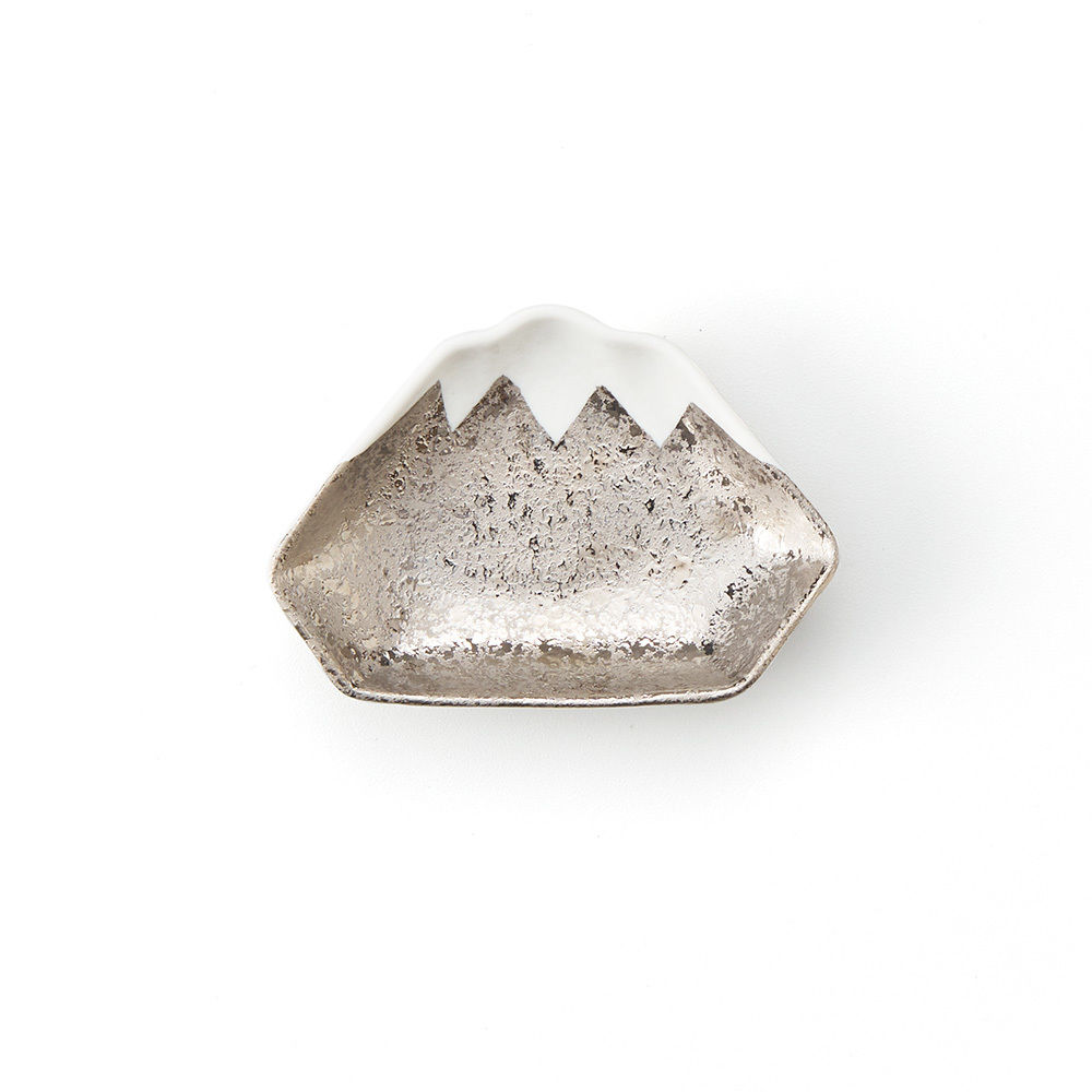 銀箔富士 豆皿