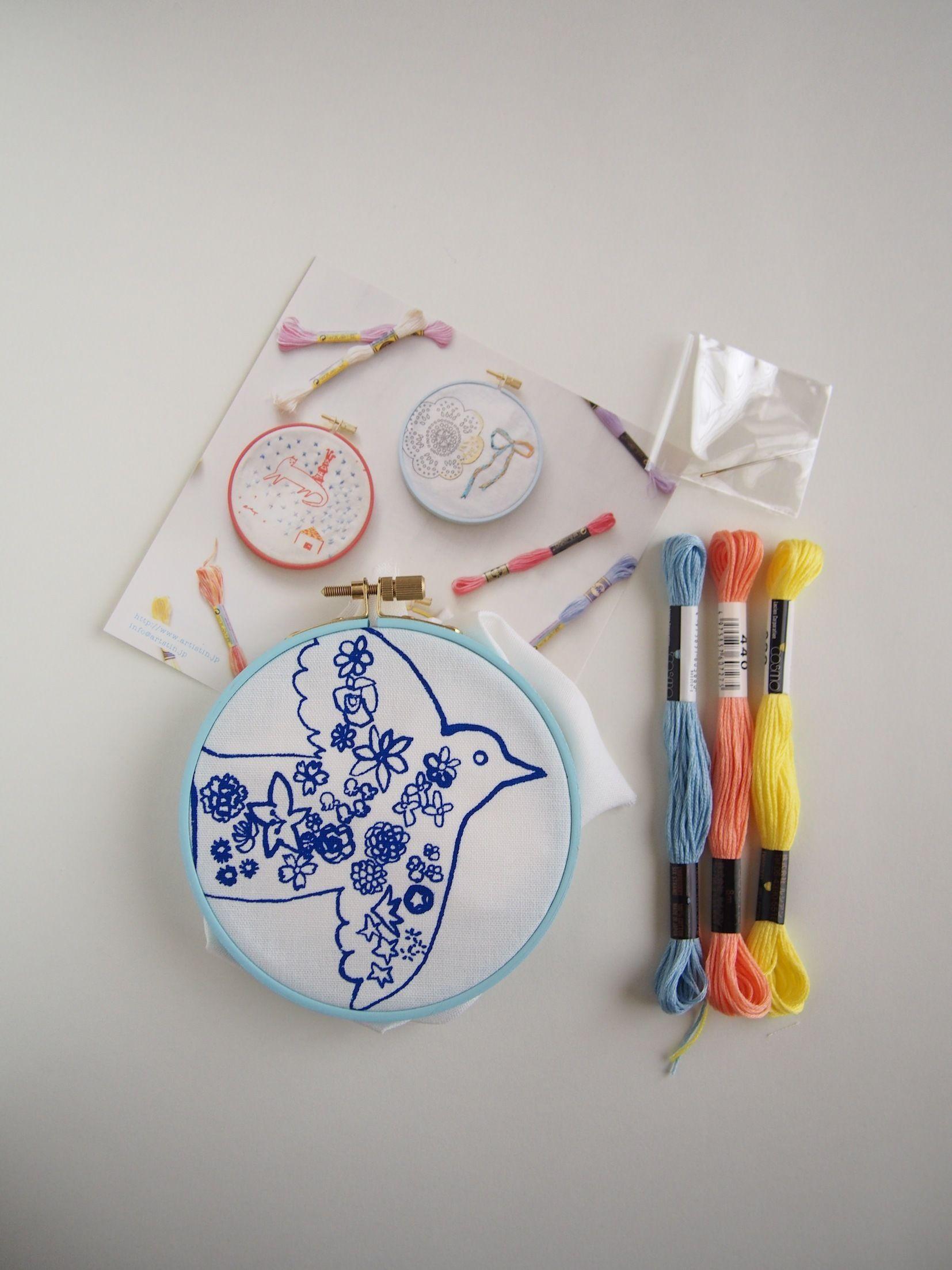 刺繍枠キット<鳥と花>