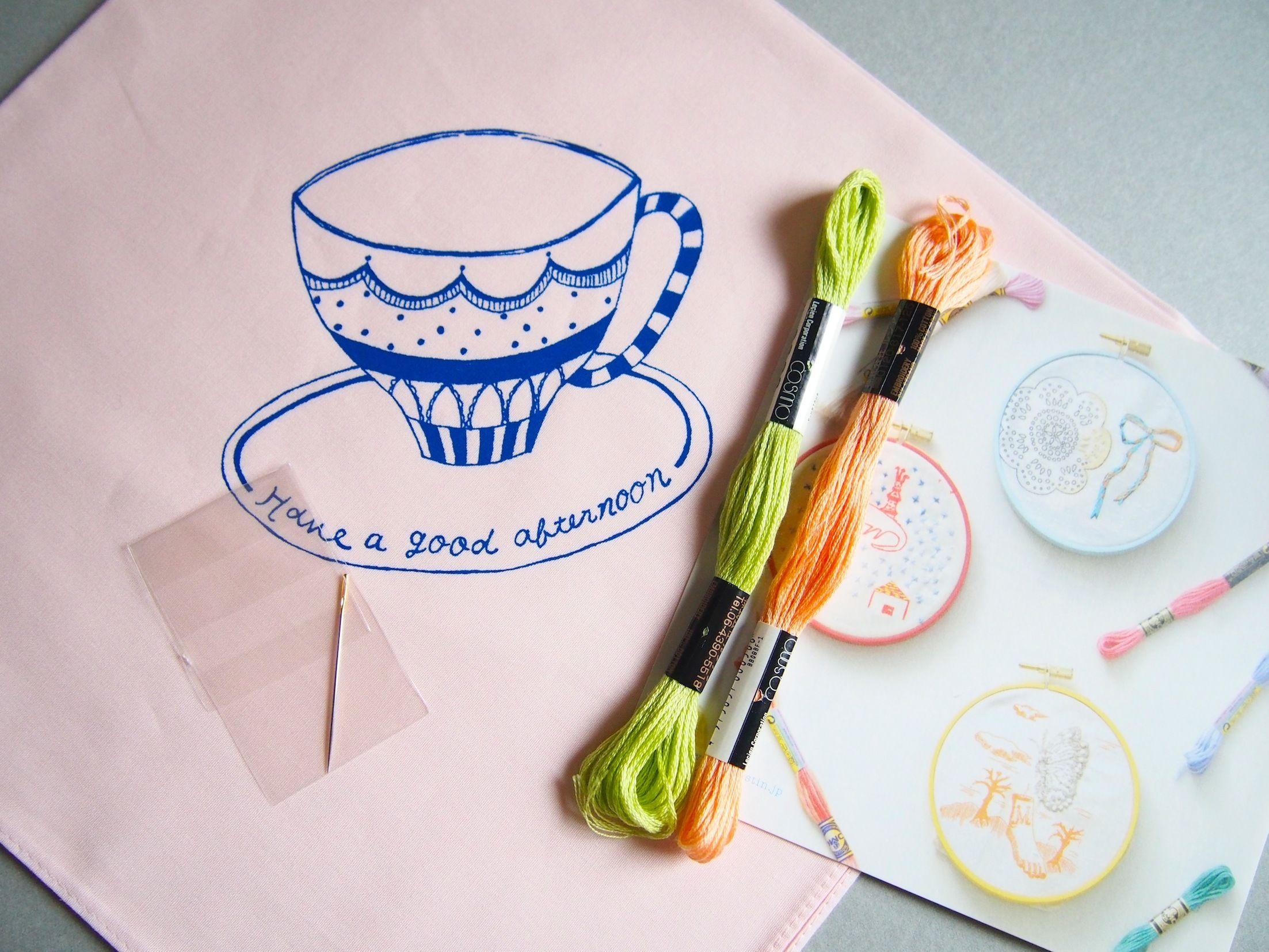 刺繍CAFEハンカチキット