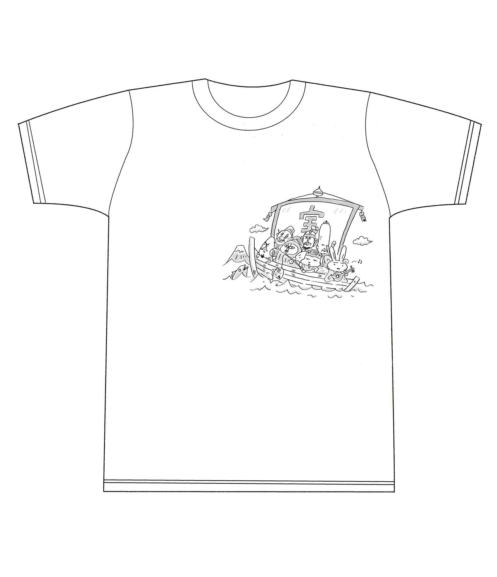 完売【期間限定!中川いさみ先生七福神Tシャツ!!あのキャラが!!】