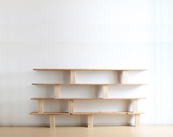 シンプルな木の本棚/BOOK SHELF