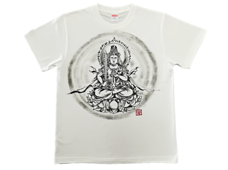 【手描きTシャツ】虚空蔵菩薩 白 綿生地