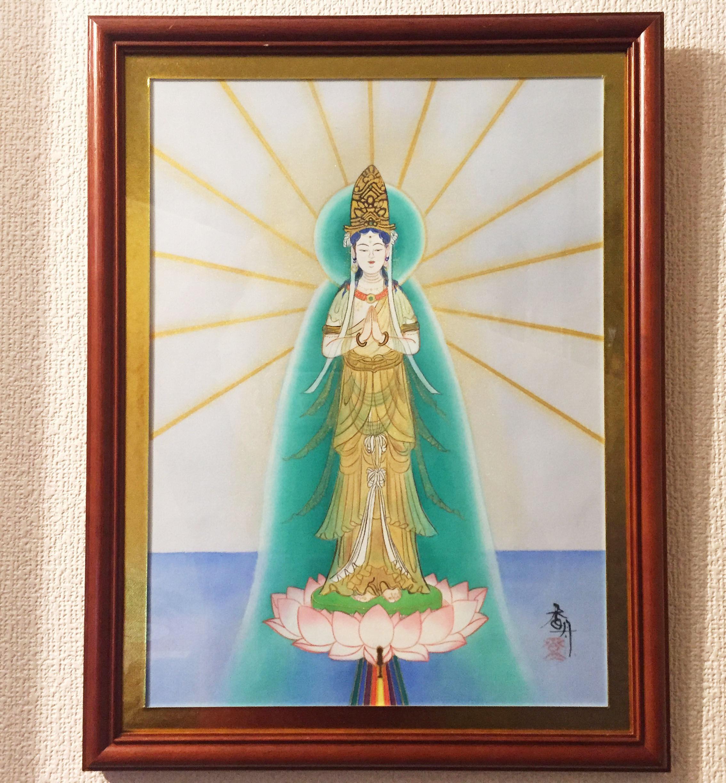 【手描き アート】日の出 45.3cm × 35cm