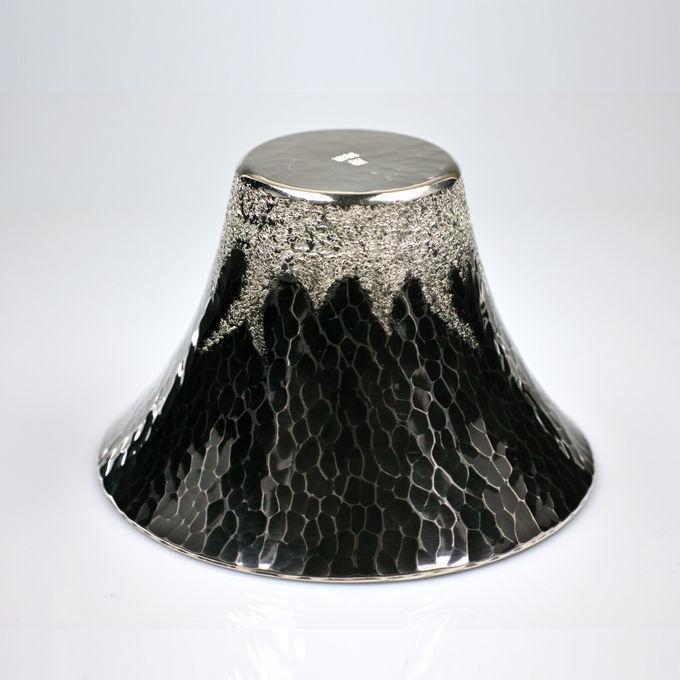 純銀製ぐい呑み 富士山型