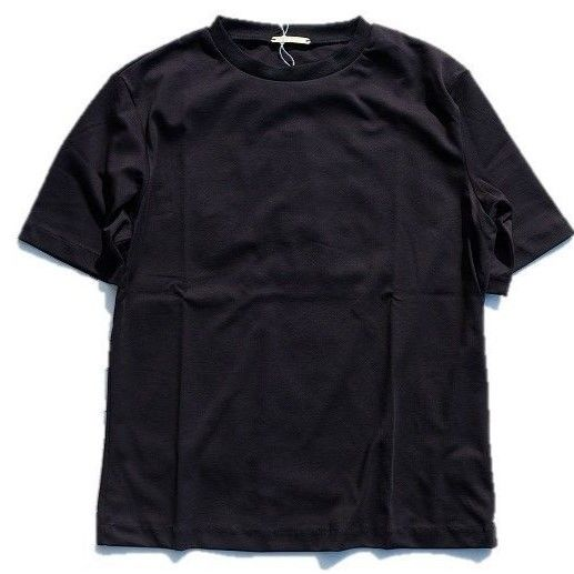 LAMOND(ラモンド)  SUVIN COTTON TEE  BLACK