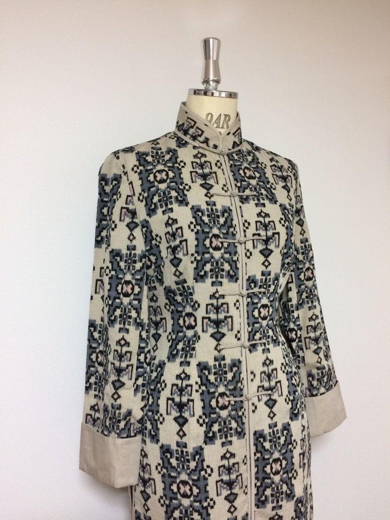 アオザイ風ロングジャケット(着物リメイク)