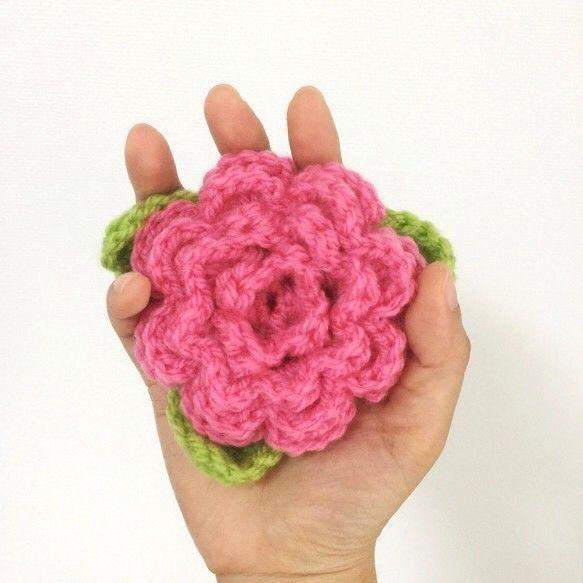 Dish Sponge - Pink Camellia x3 / ピンクのつばきのアクリルたわし 3個セット