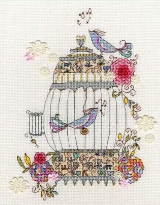 Love  Birds(日本語基本ガイド付き)Bothy Threads