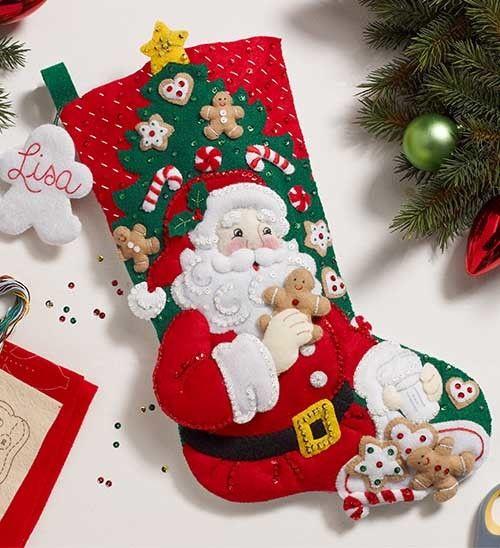 「Snack  Time」Bucilla ブシラ クリスマス ハンドメイド フェルト くつ下 ソックス  ストッキング キット