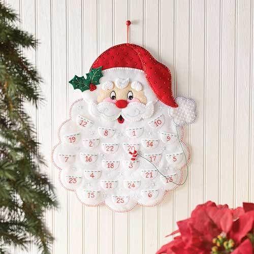 「SANTA'S BEARD ADVENT CALENDAR」Bucilla  ブシラ クリスマスツリー  アドベント カレンダー  フェルトキット