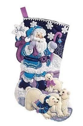 Bucilla Arctic Santaクリスマスフェルトストッキング