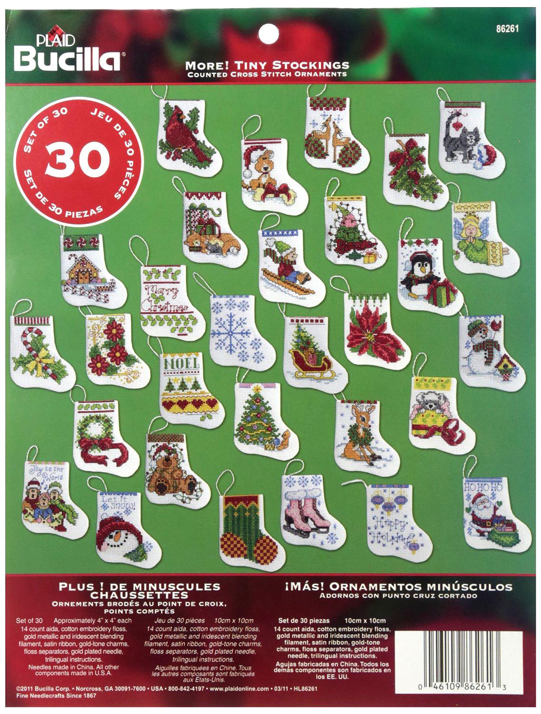 「More Tiny Stocking」Bucilla ブシラ クロスステッチ クリスマス ハンドメイド フェルト オーナメント キット