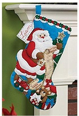 「Santa List &Toy Bag」Bucilla ブシラ クリスマス ハンドメイド フェルト くつ下 ソックス  ストッキング キット