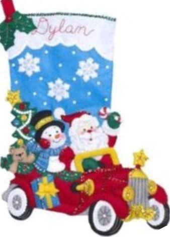 Bucilla  Holiday  Drive  クリスマスフェルトストッキング