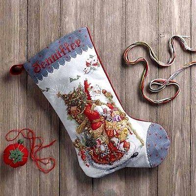 「Old World Santa」Bucilla ブシラ クロスステッチ ストッキング キット