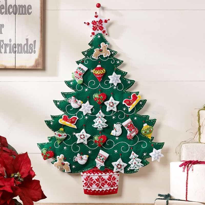 Bucilla  クリスマスツリー   Advent   Calendar   フェルトキット  ブシラ