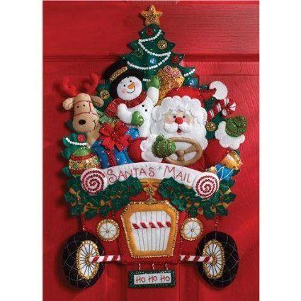 「Christmas Mail Truck」Bucilla ブシラ クリスマス ハンドメイド  フェルト オーナメント  ストッキング キット